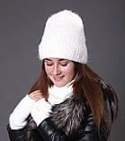 Шапка женская зимняя вязаная, фото 5