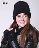 Шапка женская зимняя вязаная, фото 6