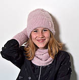 Шапка женская зимняя вязаная, фото 8