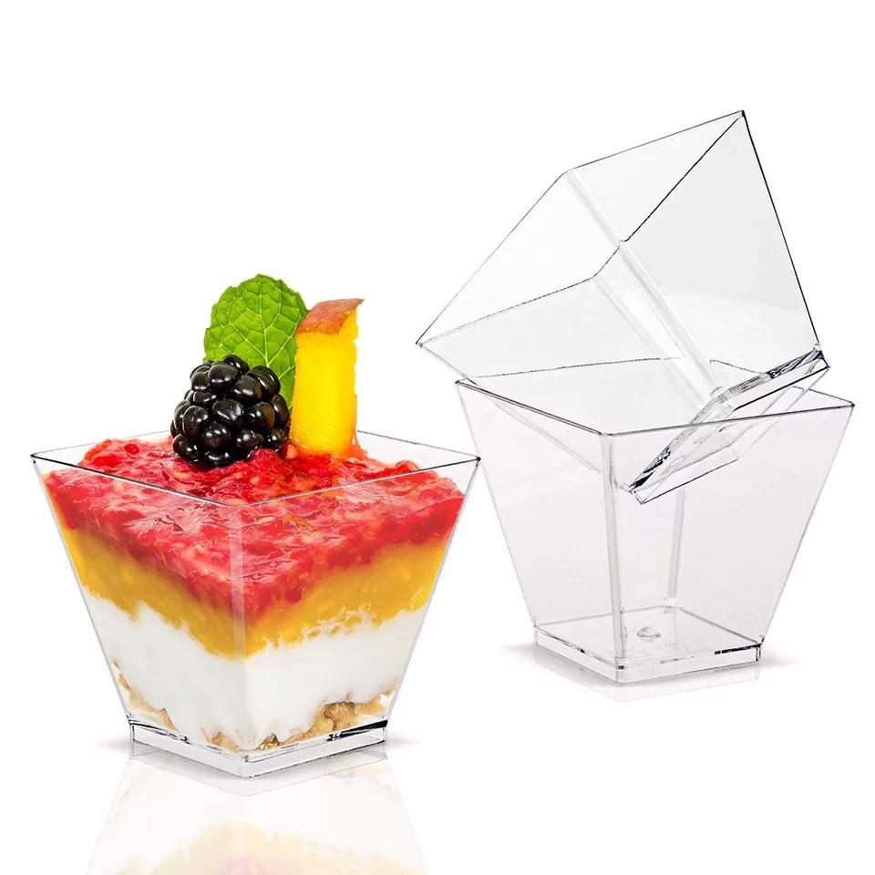 Стаканчик для десертів,трайфлов і напоїв з кришкою h7,7см (175мл)