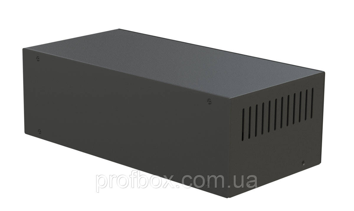 Корпус металевий MB-9 (Ш304 Г150 В90) чорний, RAL9005(Black textured)