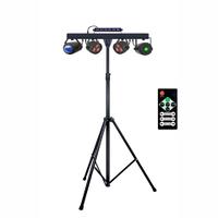Комплект динамічних шоу світло приладів SET PAR+UV STROBE+BALL+LASER