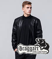 Braggart Youth | Куртка экокожа 4055 черный