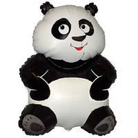 Фольгированный шар Панда 33см х 23см Черно - белый