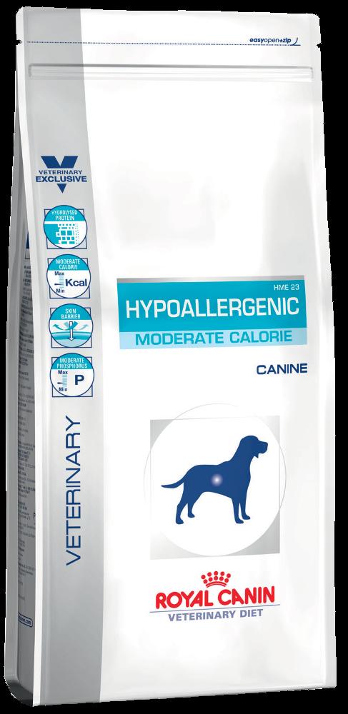 Лечебный корм для собак гипоаллергенный Royal Canin HYPOALLERGENIC MODERATE CALORIE CANINE 14 кг