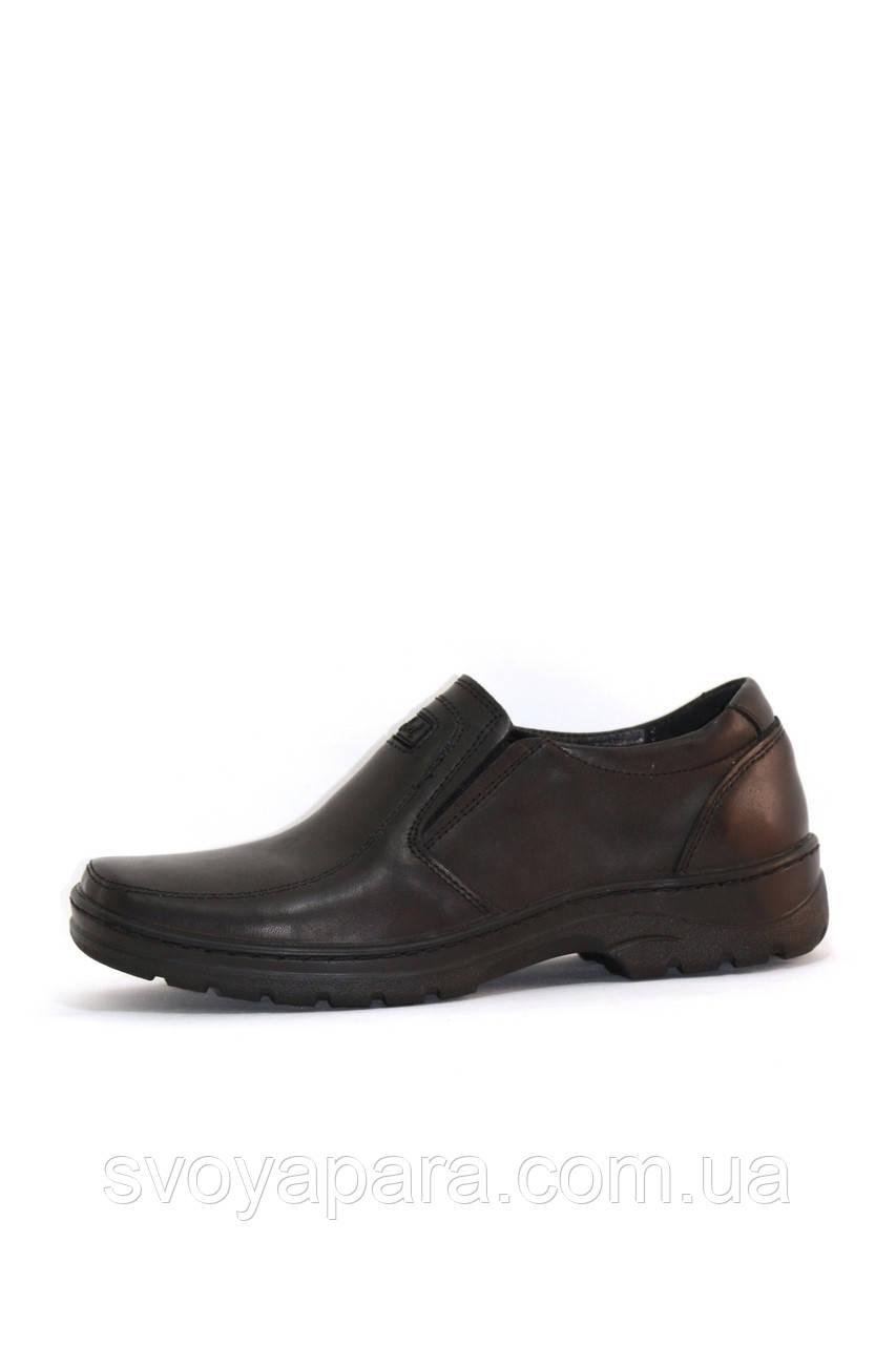 Туфли подростковые кожаные чёрные (0328)