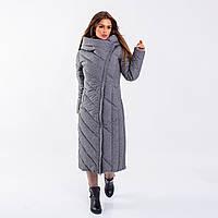Женское пальто Indigo  N 023TL MEMORY FROG LIGHT GRAY