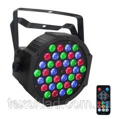 Полноценный прожектор на светодиодах SLIM PAR 36*3W+REMOTE