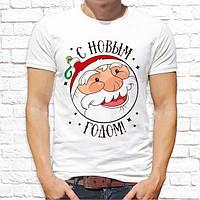 """Мужская футболка с новогодним принтом """"С Новым Годом!"""" Push IT"""