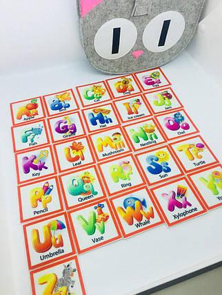 «Азбука» анг. 26 букв по типу Монтессори и Сумка- котик для хранения, фото 2