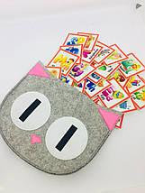 Азбука английская 26 букв по типу Монтессори и Сумка- котик для хранения, фото 3