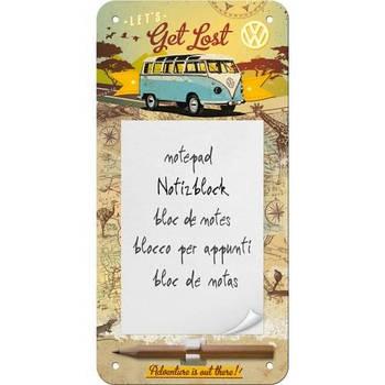 Блокнот на магните Nostalgic-Art VW Bulli - Let Get Lost (84030)