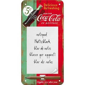 Блокнот на магните Nostalgic-Art Coca-Cola - Delicious (84038)
