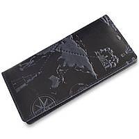 """Синий кожаный бумажник с авторским тиснением, коллекция """"7 wonders of the world"""", фото 1"""