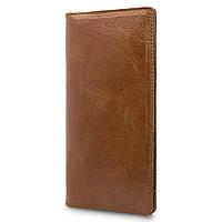 Янтарный кожаный бумажник с натуральной глянцевой кожи, фото 1