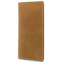 Рудий шкіряний гаманець з натуральної матової шкіри, фото 1
