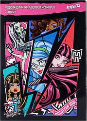 """Набор цветного неонового гофрокартона """"Monster High"""" (5листов/5цветов)"""