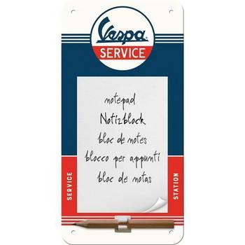 Блокнот на магните Nostalgic-Art Vespa Service (84039)
