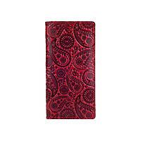 """Эргономический дизайнерский красный кожаный бумажник на 14 карт, коллекция """"Buta Art"""", фото 1"""