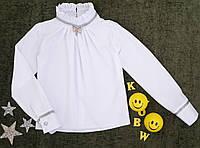 "Блуза на девочку ""Флорет"", р. 116-140, белый, фото 1"