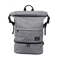 Городской рюкзак TuGuan 1761 RollTop с отделом для мокрых вещей серый