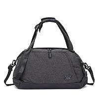 Спортивная сумка-рюкзак TuGuan 1816 с отделом для обуви и для мокрых вещей черная