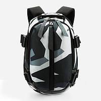 Городской рюкзак OZUKO 9012 с отделением для ноутбука 16 дюймов камуфляжный серый