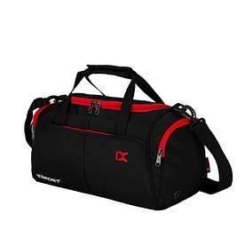 Спортивная сумка IX с отделом для обуви и для мокрых вещей черная