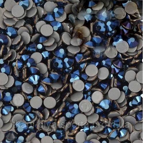 Стразы Pellosa Premium blue hematite (Корея) термоклеевые SS-16, SS-20