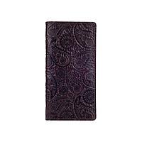 """Місткий коричневий гаманець з глянцевою натуральної шкіри на кнопках з відділенням для монет, колекція """"Buta Art"""", фото 1"""