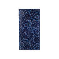 """Дизайнерський блакитний гаманець з натуральної шкіри на кнопках, колекція """"Buta Art"""", фото 1"""
