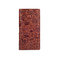 """Бумажник с глянцевой натуральной кожи янтарного цвета с отделением для монет, коллекция """" Let's Go Travel"""""""