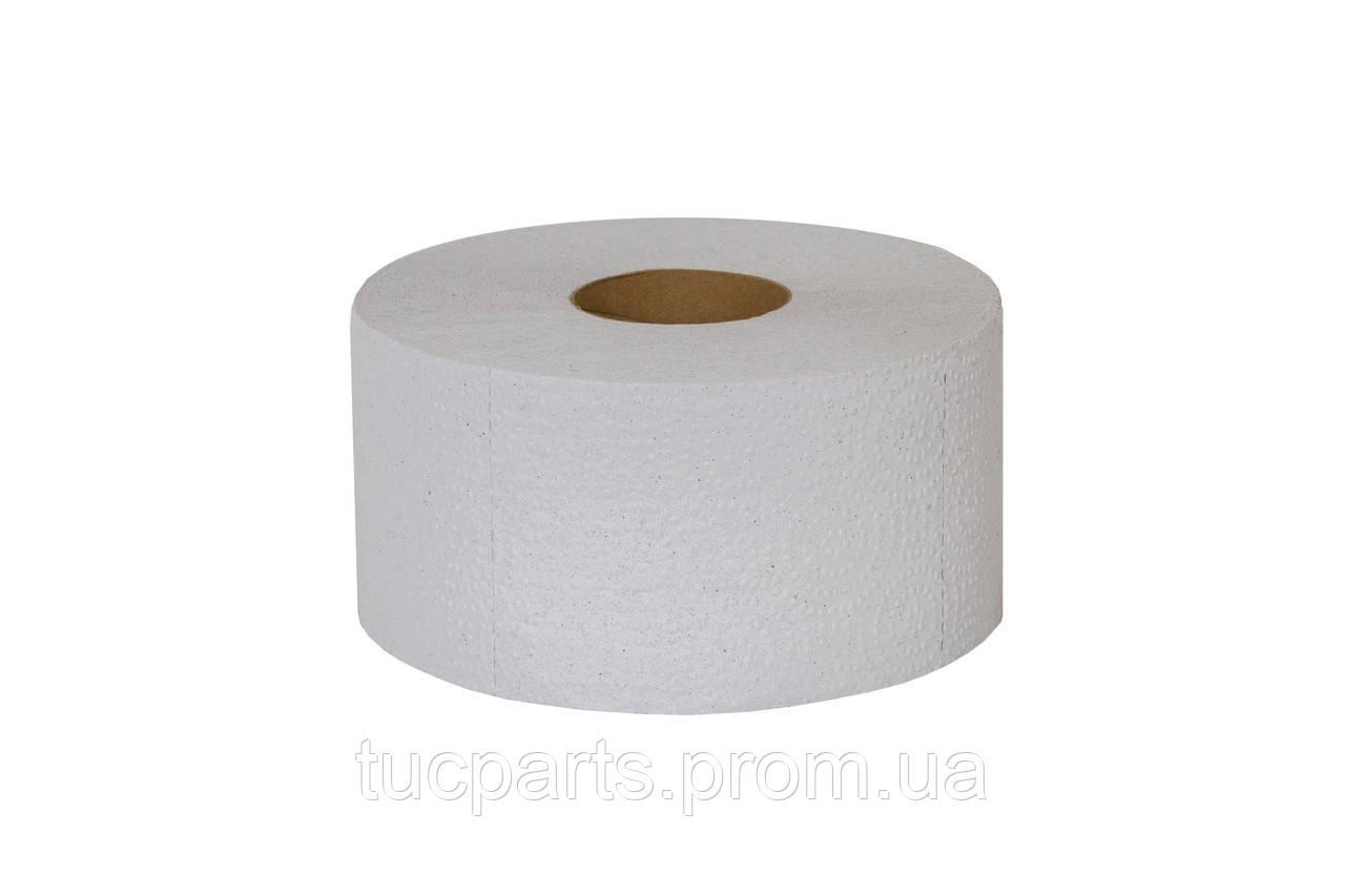 Туалетная бумага Джамбо (Jumbo) однослойная (серая) с перфорацией, 100 м в рулоне.60 гильза