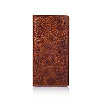 """Гарний шкіряний гаманець на 14 карт кольору глини, колекція """"Mehendi Art"""", фото 1"""