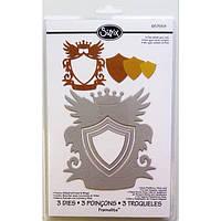 Ножи для вырубки Sizzix 3PK - Frame, Shield w/Crown & Wings 657559, фото 1