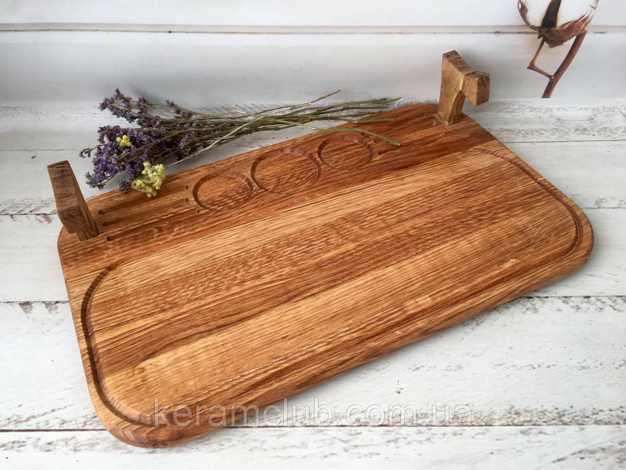Плато из дерева для подачи шашлыка 50х30 см