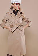 Пальто двубортное, прямого силуэта