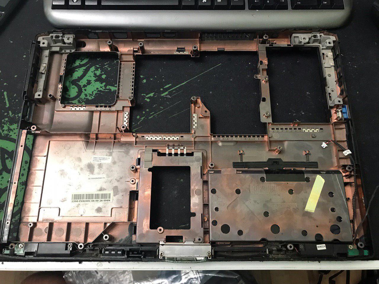 Нижнее корыта корпуса для ноутбука Asus Rog G71G