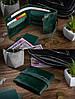 Зручний маленький гаманець на кобурном гвинті з натуральної шкіри зеленого кольору