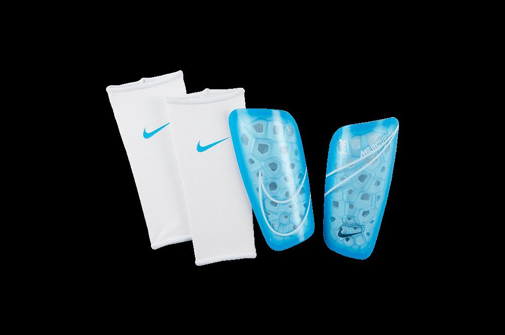 Щитки футбольные Nike Mercurial Lite SP2120-486 Синий с белым Размер S (193145983618)