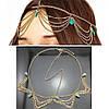 Підвіска на голову і сережки, набір прикраси, біжутерія, фото 2