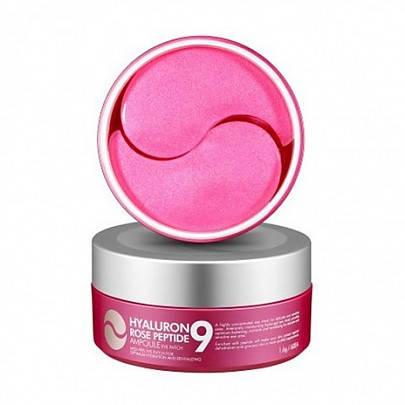 Патчи с пептидами и розой MediPeel Hyaluron Rose Peptide Eye Patch 60шт., фото 2