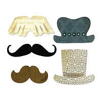 Ножи для вырубки Sizzix 5PK - Top Hats & Mustaches, 659063, фото 1