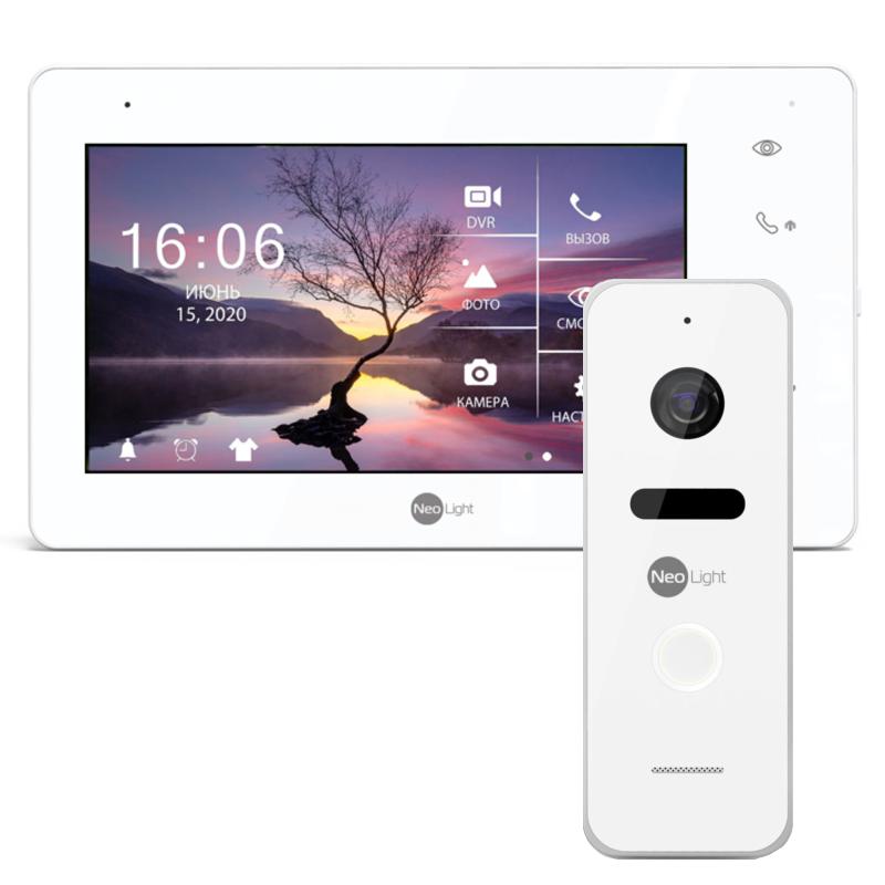 NeoKIT HD+ White комплект видеодомофона