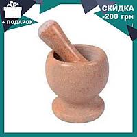 Мраморная кухонная ступка с пестиком BN-12 | ступка - измельчитель из мрамора для специй, фото 1