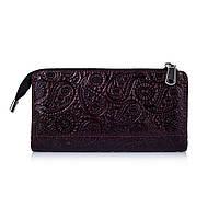 """Гарний шкіряний гаманець на блискавці фіолетового кольору, колекція """"Buta Art"""""""
