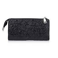 """Удобный кожаный кошелек на молнии черного цвета, коллекция """"Let's Go Travel"""", фото 1"""