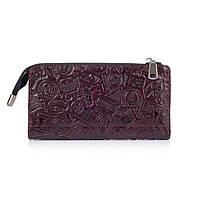 """Гарний шкіряний гаманець на блискавці фіолетового кольору, колекція """"let's Go Travel"""""""