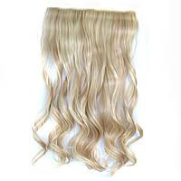 Искусственные волосы на заколках волнистые. Цвет #613-16 Мелированный Блонд, фото 1