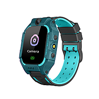 Детские умные часы Baby Smart Watch cyan-blue